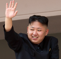 Kim Jong-un waves to fans on his tour of the Carlton Football Club Win Loss ratio defense shield system.