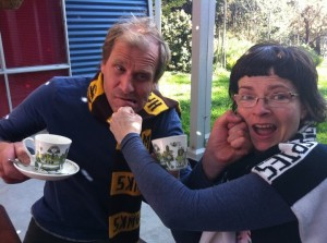 Pre game tension explodes ahead of Hawks V Pies 2011