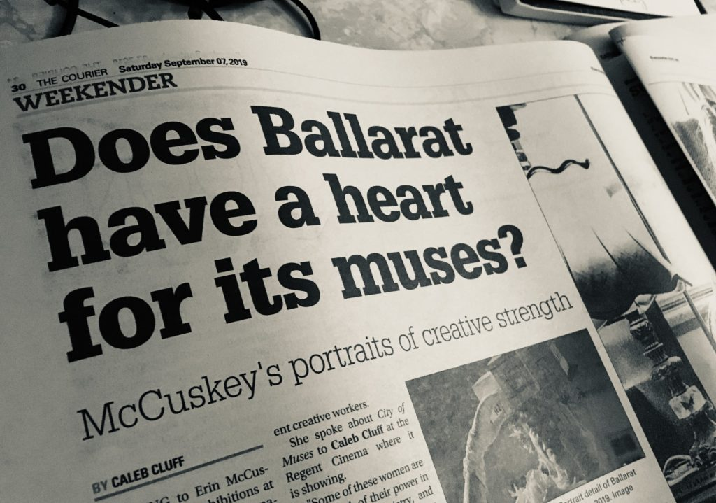 headline reads 'does ballarat have a heart for its muses?'